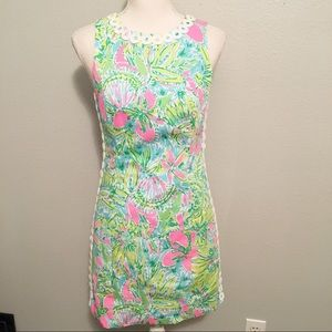 Lily Pulitzer Pink Green Fitted Dress Size 0